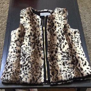 Andrew Marc Marc New York faux fur zipper vest